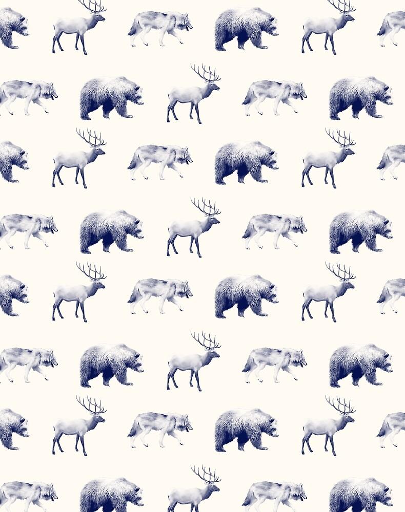 Wild Pattern // Blue by Amy Hamilton
