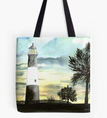 Tybee Island, GA Lighthouse Tote Bag