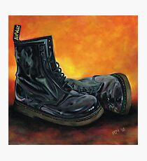 A Pair of Black Dr Martens Photographic Print