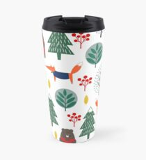 Bears Trees Foxes Winter Scene Snow Winter Ski Snowboard Travel Mug
