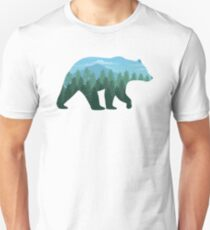Bear Wandering in Forest : Into the Wild Unisex T-Shirt