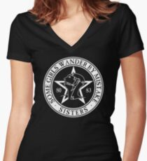 The Sisters of Mercy - The World's End - Some Girls Wander by Mistake Women's Fitted V-Neck T-Shirt