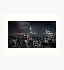 Manhattan Nightscape Art Print