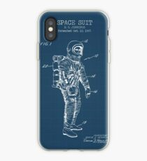 Space Suit Blueprint iPhone Case