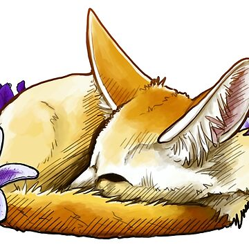 Fennec Fox Nap by kalantix