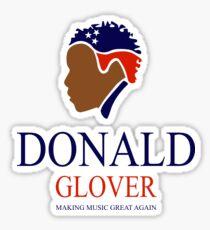 Donald Glover Donald Trump parody design Sticker