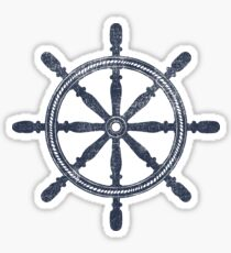 Nautical Wheel Sticker