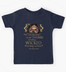 "Shakespeare Macbeth ""Something Wicked"" Quote Kids Tee"