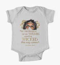 """Shakespeare Macbeth """"Something Wicked"""" Quote One Piece - Short Sleeve"""
