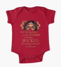 "Shakespeare Macbeth ""Something Wicked"" Quote One Piece - Short Sleeve"