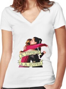Supercorp Women's Fitted V-Neck T-Shirt