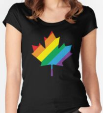 lgbt canada pride Women's Fitted Scoop T-Shirt