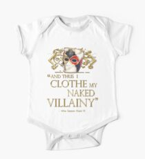 Shakespeare's Richard III Naked Villainy Quote Kids Clothes