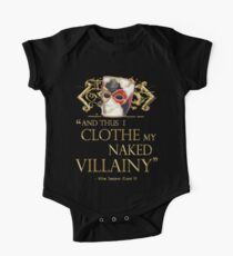 Shakespeare's Richard III Naked Villainy Quote One Piece - Short Sleeve