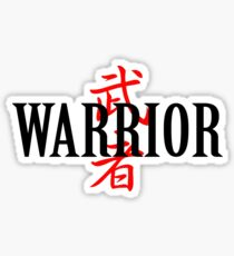Warrior Japanese Character Sticker