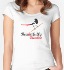 Beautifully Creative Women's Fitted Scoop T-Shirt