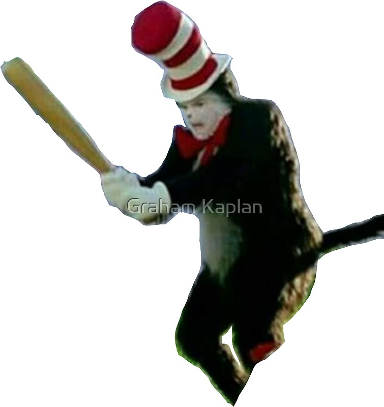 Cat In The Hat With A Basebal Bat