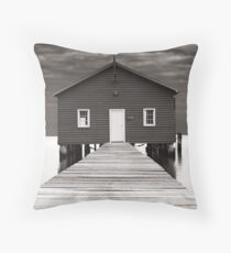 Boat Shed Throw Pillow