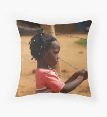Ugandan Child  Throw Pillow