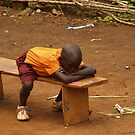 Child sleeping at School by Jane Smith