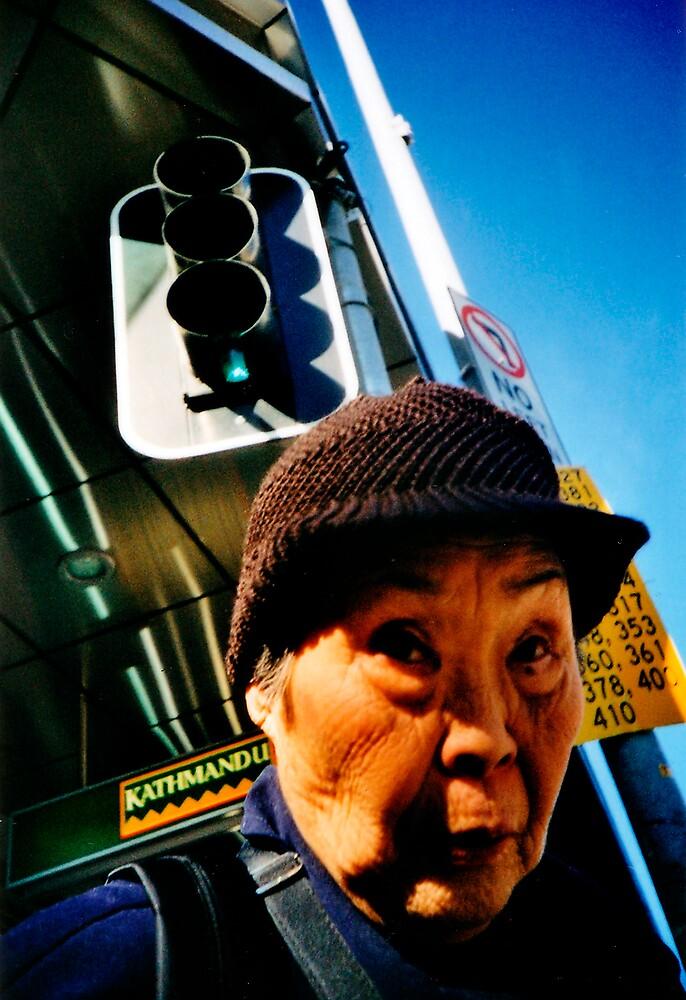 old lady crossing road by scottwynn