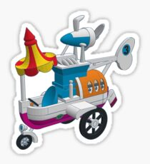 Wacky Races - Convert-a-Car Sticker