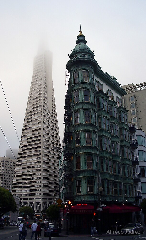 The Transamerica Pyramid  and The Sentinel Building by Alfredo Juarez