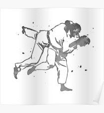 Painted Judo Throw (Judo / BJJ / Sambo) Poster