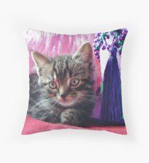Kitty Daydream Throw Pillow