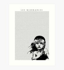 Les Miserables Musical Full Script Lyrics Art Print