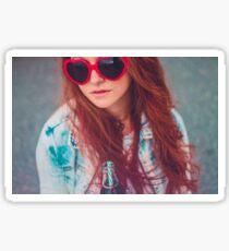 Brazilian Red Hair Girl Sticker