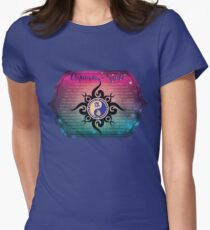 East West Astrology Aquarius-Snake Womens Fitted T-Shirt