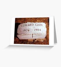 Ed Gein Grave Greeting Card