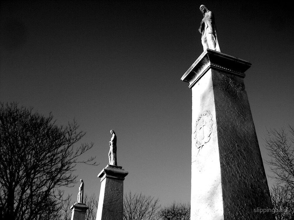 Cemetery Spires by slippinghalo