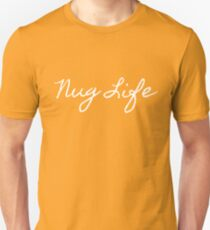 "White ""Nug Life"" Graphic T-Shirt"