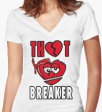 Thot Breaker Chief Keef Sosa Gang Women's Fitted V-Neck T-Shirt