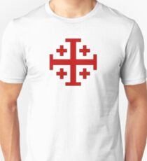 Order of the Holy Sepulchre, Five-fold Cross  Unisex T-Shirt