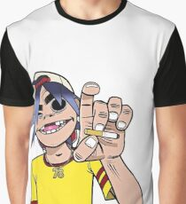 2D Cigarette Graphic T-Shirt