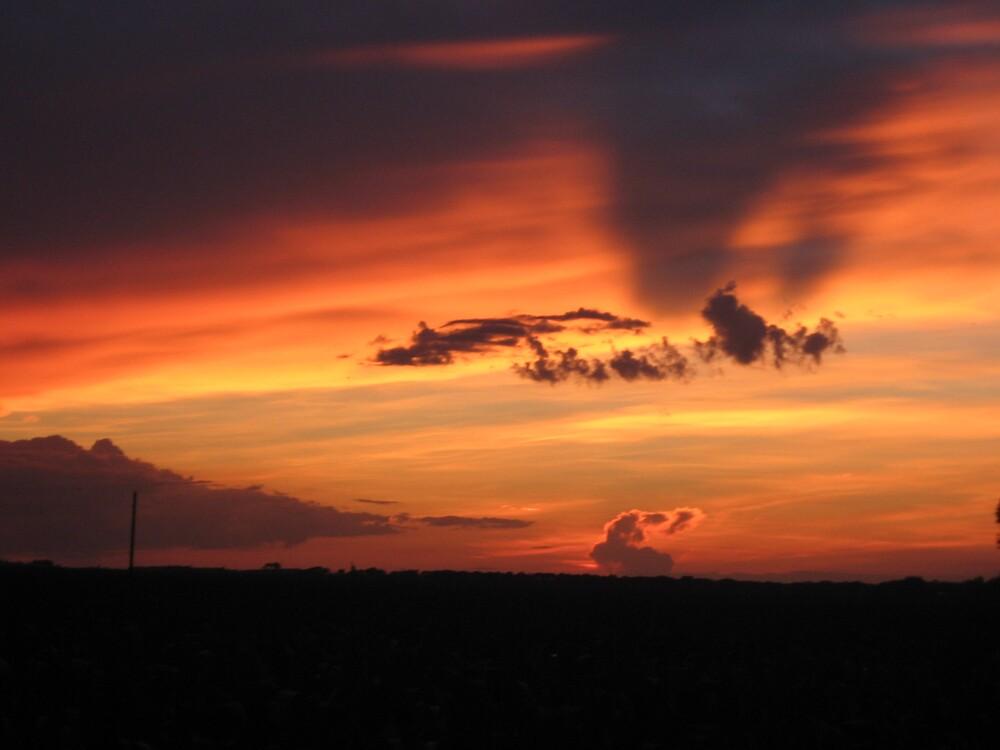 fire sky by Jaclyn Clemens