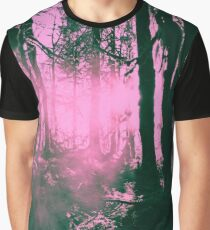 Sunset on Tree in the Hoh Rainforest - Travel Sunset Forest Nature Trees sun hiking adventure Pink Graphic T-Shirt