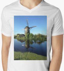 Historic Windmill Men's V-Neck T-Shirt