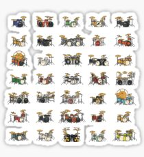 35 Pixel Drum Sets Sticker