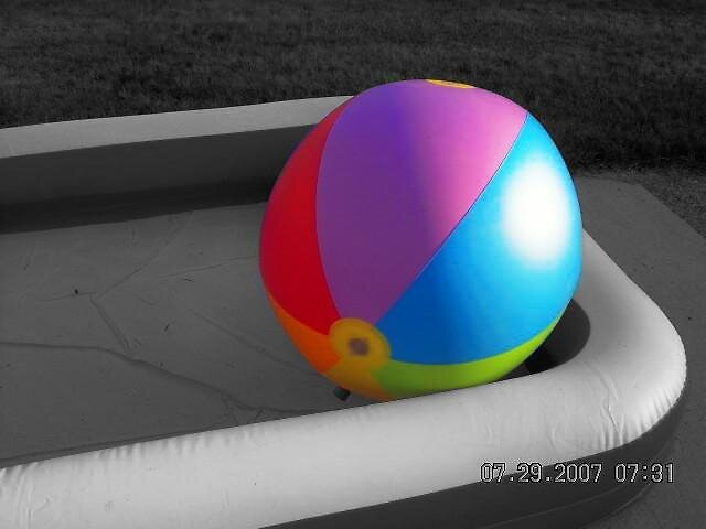 beach ball by Jaclyn Clemens