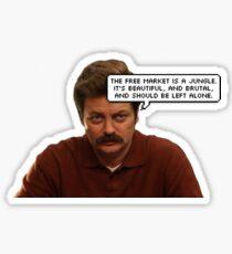 Ron Free Markets Sticker