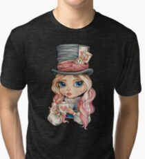 Mad Hatter Alice Tri-blend T-Shirt