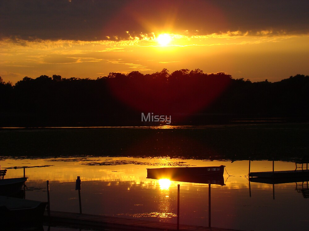 Golden sunset by Missy