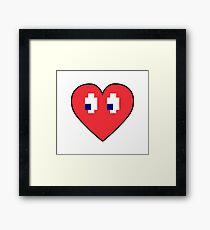 Love 8 bits Framed Print