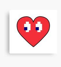 Love 8 bits Canvas Print