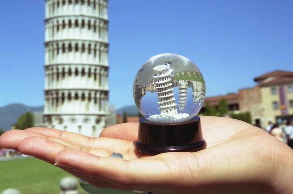 Snow globe in Pisa by Celia Bell