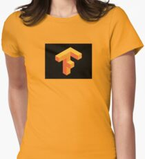 Tensorflow Clear Logo Womens Fitted T-Shirt